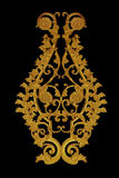 Ornement du vintage plaqué par or floral photographie stock