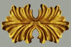 Ornement du vintage plaqué par or floral photos libres de droits