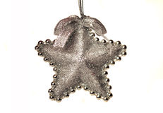 Ornement en forme d'étoile de Noël. Images libres de droits