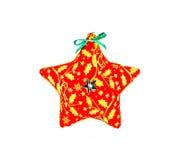 Ornement en forme d'étoile de Noël d'isolement sur le fond blanc Image stock