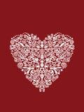 Ornement en forme de coeur détaillé illustration stock