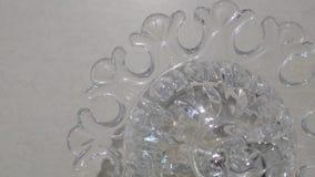 Ornement en verre décoratif de bol en verre Image libre de droits