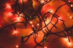 Ornement et lumière de Noël photographie stock