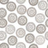 Ornement ethnique de cercle géométrique abstrait de modèle Photo libre de droits