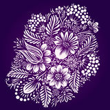 Ornement ethnique de fleur Style traditionnel ukrainien Illustration de Vecteur