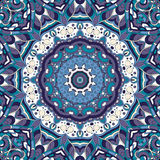 Ornement ethnique de mehndi de filigrane Motif apaisant discret indifférent, conception harmonieuse colorée gribouillante utilisa Image libre de droits