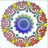 Ornement féerique indigène circulaire de modèle Photos libres de droits
