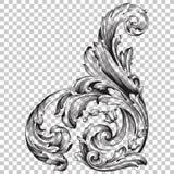 Ornement faisant le coin d'isolat dans le style baroque Photos stock