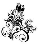 Ornement floral, élément pour la conception, vecteur   Photographie stock libre de droits