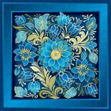 Ornement floral abstrait avec des fleurs sur le fond grunge Photos libres de droits