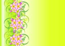 Ornement floral abstrait avec le fond Illustration Stock
