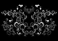 Ornement floral abstrait dans la couleur blanche Illustration Libre de Droits