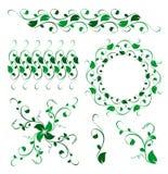 Ornement floral abstrait de décoration de vecteur Images libres de droits