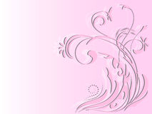 Ornement floral abstrait sur le fond rose illustration stock