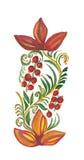 Ornement floral avec des baies illustration de vecteur
