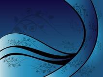 Ornement floral bleu Photos libres de droits