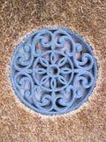 Ornement floral bleu de mur Image stock