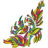 Ornement floral décoratif dans la triangle Images libres de droits