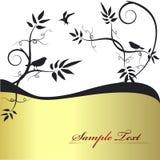 Ornement floral d'or illustration de vecteur
