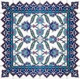 Ornement floral d'isolement de modèle de tuile orientale Images stock