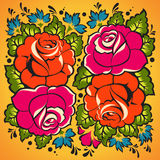 Ornement floral dans le type russe Image stock
