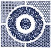 Ornement floral de cru Images libres de droits