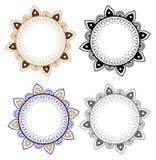 Ornement floral de mandala de vecteur Modèle rond oriental Image stock