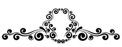 Ornement floral de monogramme de frontière de cadre de vintage illustration stock