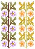 Ornement floral européen classique Images libres de droits