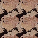 Ornement floral, feuilles Fond sans couture Mains de dessin Image libre de droits