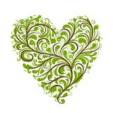 Ornement floral, forme de coeur pour votre conception Images stock