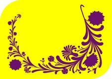 Ornement floral lilas abstrait Illustration Libre de Droits