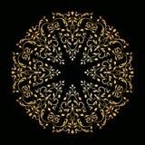 Ornement floral ornemental de vecteur Type de cru illustration libre de droits