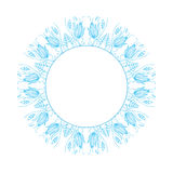 Ornement floral rond Image stock