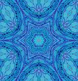 Ornement floral sans couture bleu et pourpre centré Images stock