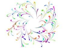 Ornement floral spiralé coloré des confettis Image stock