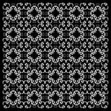 Ornement floral sur le noir Photo stock