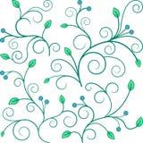 Ornement floral vert Photographie stock libre de droits