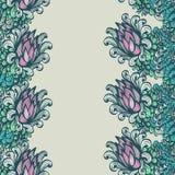 Ornement floral vertical sans couture Images libres de droits