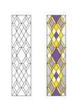 Ornement géométrique avec des losanges Image stock