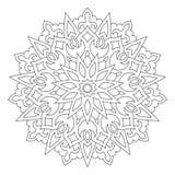 Ornement géométrique circulaire Mandala rond d'ensemble illustration de vecteur