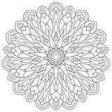 Ornement géométrique circulaire Mandala rond d'ensemble pour la page de livre de coloriage Photographie stock