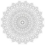 Ornement géométrique circulaire Mandala rond d'ensemble pour la page de livre de coloriage Photos libres de droits