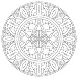 Ornement géométrique circulaire Mandala rond d'ensemble pour la page de livre de coloriage illustration libre de droits