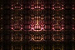 Ornement géométrique détaillé abstrait sur le fond noir Photos libres de droits
