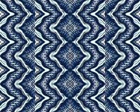 Ornement géométrique de folklore Texture ethnique tribale de vecteur Modèle rayé sans couture avec des coquilles de mer illustration de vecteur