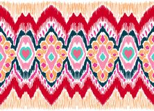 Ornement géométrique de folklore de WebIkat Texture ethnique tribale de vecteur Modèle rayé sans couture dans le style aztèque illustration libre de droits