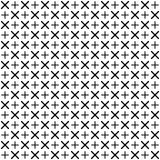 Ornement géométrique monochrome Dirigez la configuration sans joint Photo stock