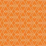 Ornement géométrique orange Configuration sans joint Images stock