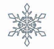 Ornement givré de flocon de neige Photographie stock libre de droits